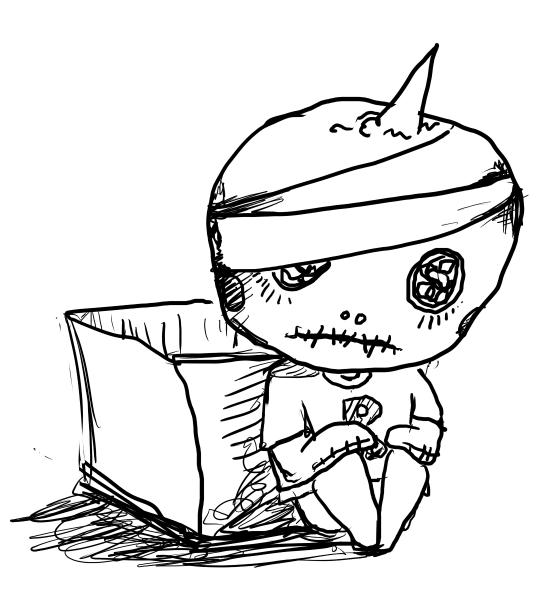 简笔画 哭泣的承太郎先生